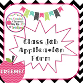 Free Class Job Application Form