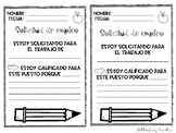 Class Job Application in Spanish