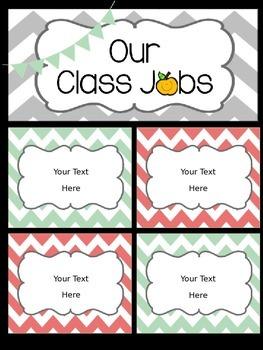Class Job Chart