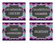Class Job Chart - Chalkboard/Blue/Teal/Purple