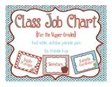 Class Job Chart - For the Upper Grades - Patriotic Colors