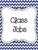 Class Job Chart-Navy and Red Chevron