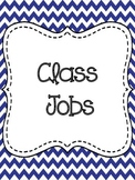 Class Job Chart-Navy and Red Chevron