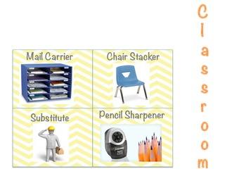 Classroom Job Chart Pockets