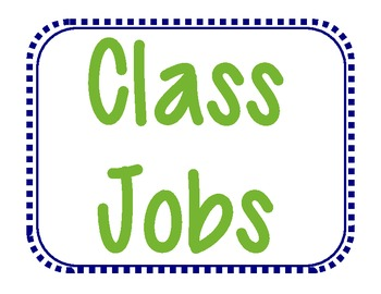 Class Job Description Cards