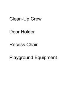 Class Job Descriptions