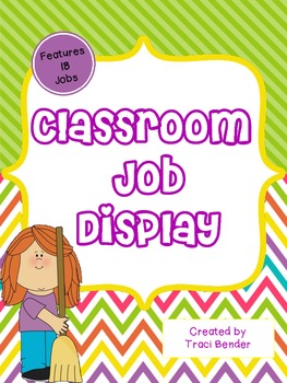 Class Job Display {Chevron Brights & Stripes}