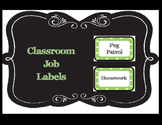 Class Job Labels - Green Polka-Dot