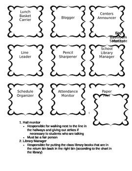 Class Job Labels and Descriptions