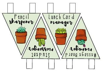 Class Job Pennants - Succulent Theme