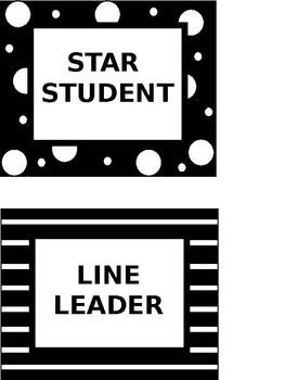 Class Job Posters (Black & White)-EDITABLE
