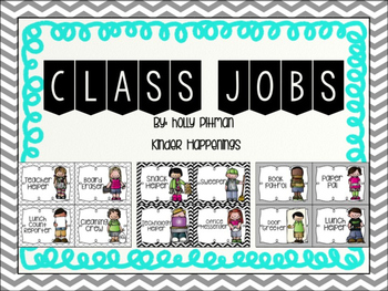 Editable Class Job Posters/Signs- Black and White