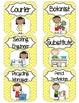 Class Job Set  with Professional Titles {Yellow Chevron}