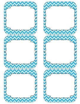 Class Job Set with Professional Titles {Blue Chevron}