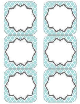 Class Job Set with Professional Titles {Teal Quatrefoil}