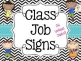 Class Job Signs - black & white chevron