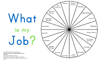 Class Job Wheel Printable - 20 jobs included *Freebie*
