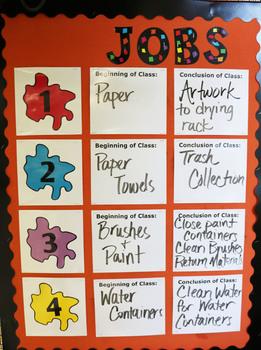 Classroom Jobs - Splatter Theme