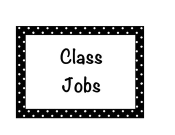 Class Jobs- Black, Red, and Green