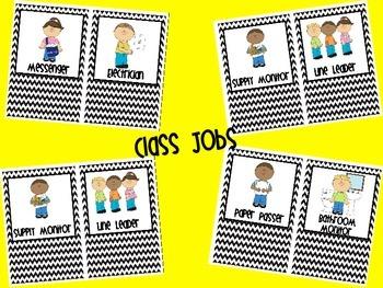 Class Jobs Black and White Chevron