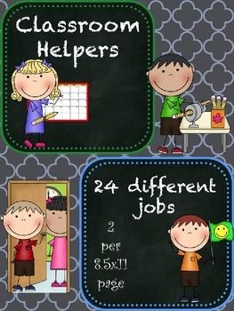 Class Jobs - Chalkboard Theme