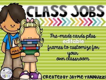 Class Jobs Chalkboard Version {EDITABLE}