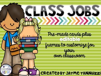 Class Jobs Chalkboard Version {EDITABLE}