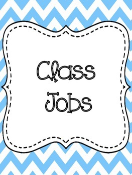 Class Jobs Chart-Colorful Chevron