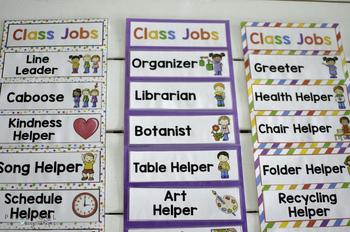 Class Jobs Chart -- Editable and Customizable