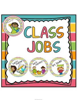 Class Jobs Chart (Posters/Signs) Chevron