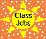 Class Jobs Chart Sunshine Theme EDITABLE