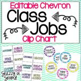 Class Jobs: Chevron Themed Clip Chart {Editable}