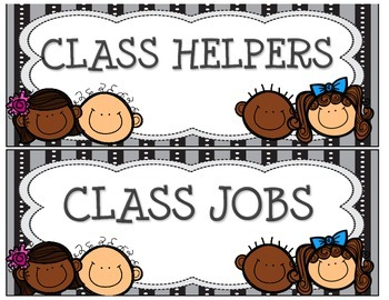 Class Jobs / Class Helpers with Characters on Title