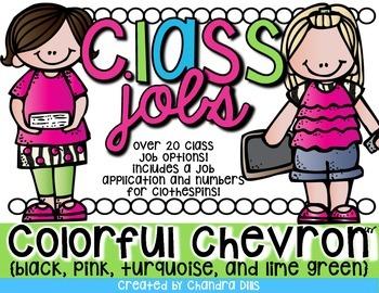 Class Jobs {Colorful Chevron}
