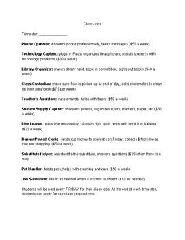 Class Jobs Descriptions
