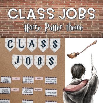 Class Jobs Display - Harry Potter Theme