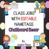 Class Jobs EDITABLE Chalkboard Decor