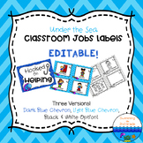Class Jobs EDITABLE - Under the Sea Decor ~ Chevron