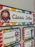 Class Jobs Hanging Chart (Rainbow Pop)