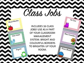 Class Jobs - Includes 16 different types of class jobs !!