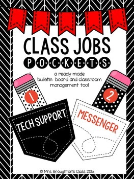 Class Jobs Pockets- Red, Black, Grey and White