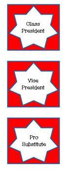 Class Jobs - Presidential Offces Leadership Theme - EDITABLE