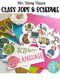 Class Jobs & Schedule Cards Classroom Decor FREEBIE Tina's Teaching Treasures