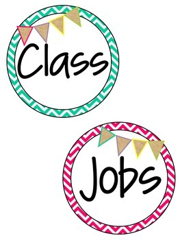 Class Jobs: Shabby Chic Clip Chart {EDITABLE}