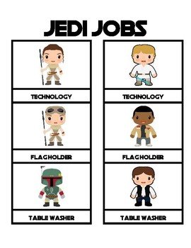 Class Jobs Star Wars Theme Boy Girl Versions for 24 different Jobs plus Blanks