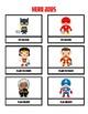 Class Jobs Super Hero Theme for Boy & Girl 24 different Jobs Marvel DC Guardians