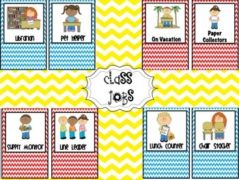 Class Jobs Teal and Red Chevron