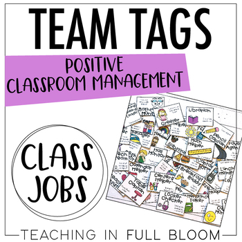 Class Jobs Team Tags and Bulletin Board Display Bright and White