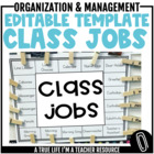 Class Jobs Template {Editable}