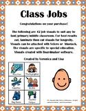 Classroom Jobs Visuals (Boardmaker, Autism, Special Education)